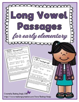 Reading Passages with Comprehension Questions for Long Vowels