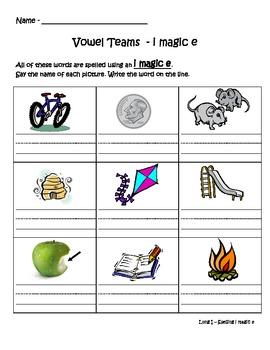 Phonics - Long Vowel Team Book