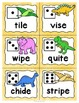 Phonics Word Game with Silent e and Vowel Digraph Patterns Dinosaurs