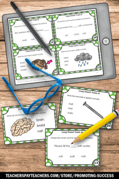 Long a Vowel Team Activities { ai words } Speech Therapy and ESL Games