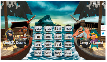 Phonics Long Vowels A and I Smart Lab Interactive Whiteboard Activities