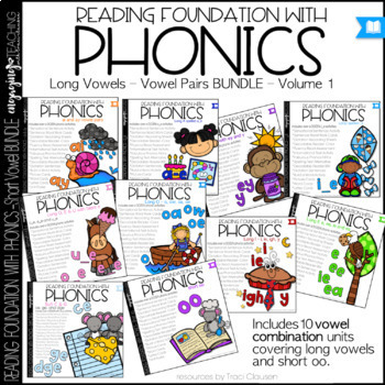 Phonics - Long Vowels - BUNDLE Vol. 1- Reading Foundation with Phonics