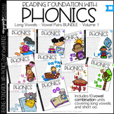 Phonics - Long Vowels - BUNDLE Vol. 1- Reading Foundation