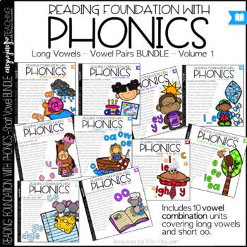 Phonics Bundle - Long Vowels - Vol. 1 - Reading Foundational Skills