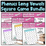 Phonics Long Vowels Square Game BUNDLE