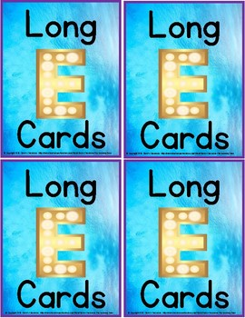 Phonics - Long 'e' Mini-Reading Cards for Group, Independent, or Centre Practice
