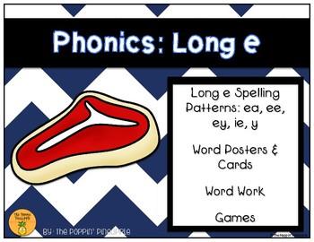 Phonics: Long e Spelling Patterns (ea, ee, ey, ie, y)