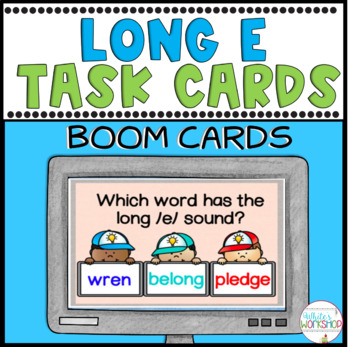 Phonics: Long /e/ sound  Digital Task Cards BOOM CARDS