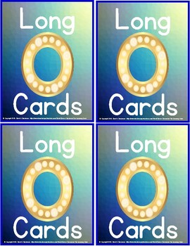 Phonics - Long 'o' Mini-Reading Cards for Group, Independent, or Centre Practice