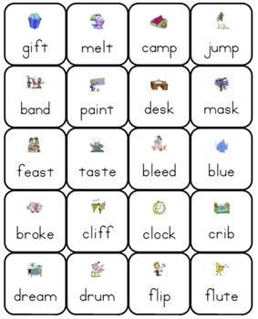 Phonics Lotto: Consonant Blends