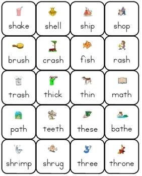 Phonics Lotto: Consonant Digraphs