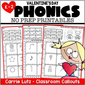 Phonics Love ~ No Prep Phonics Practice Pages