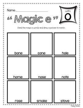 "Phonics - ""Magic e"" Activities (FREE)"
