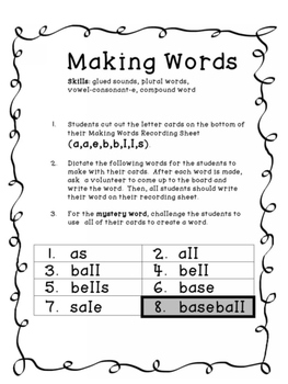 Making Words - Mystery Word Challenge!