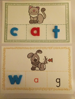 Phonics Making Words Activity Cards (CVC SHORT A)