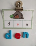Phonics Making Words Activity Cards (SHORT E)