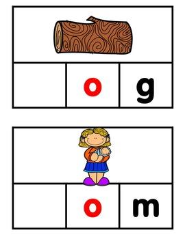 Phonics Making Words Activity Cards (SHORT O)