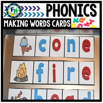 Phonics Making Words Cards {Long Vowels}