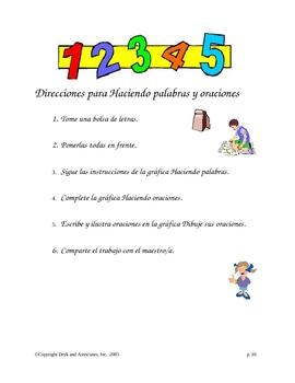 Phonics:  Making Words and Sentences (English and Spanish)
