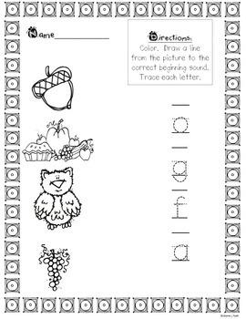 Phonics Match Cards & Activity Sheets (NOVEMBER)
