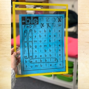 Phonics Mats - Final Stable Syllable by Keeping Up with ...