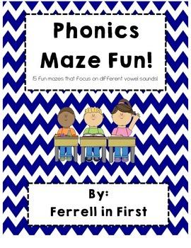 Phonics Maze Fun (vowel sounds)
