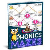 Phonics Mazes: CVC Words & Word Families