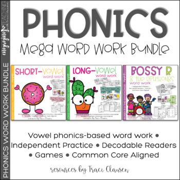 Phonics Mega Bundle - Phonics Lessons, Review, and Practice