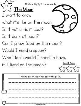 Phonics MegaPack - oo (as in moon)