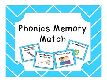 Phonics Memory Match Game