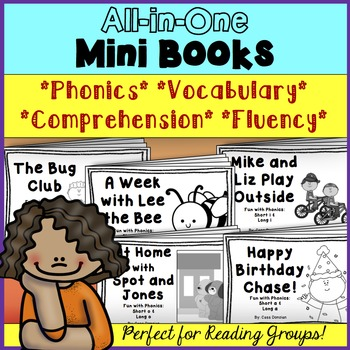 All-in-One Reading Mini Books *Phonics* *Vocabulary* *Comprehension* *Fluency*