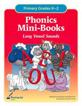 Phonics Mini Books - Long Vowel Sounds (Grades K-2) - by Teaching Ink