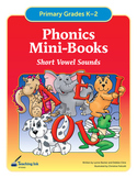 Phonics Mini Books - Short Vowel Sounds (Grades K-2nd) by