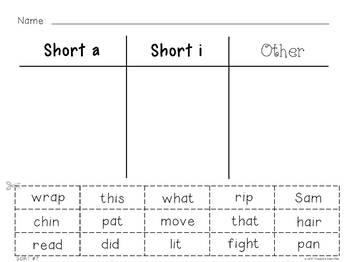 Phonics Mini Bundle:  50 Word & Picture Sorts - Short & Long Vowel Sounds