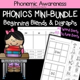 Phonics Mini Bundle: 50 Word & Picture Sorts - Beginning Blends & Digraphs
