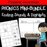 Phonics Mini Bundle: 50 Word & Picture Sorts - Ending Sounds & Digraphs