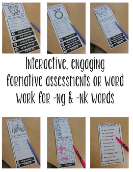 Phonics Mini Flip Book -NG & -NK Words