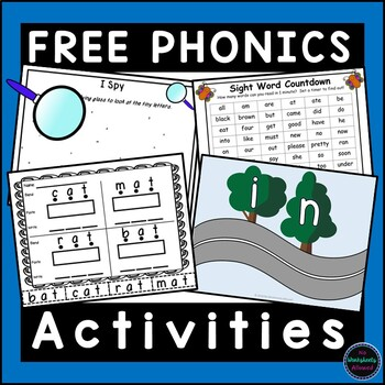 FREE Phonics Letters, Decoding and Sight Word Activities