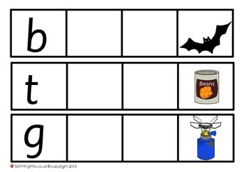 Phonics - Missing Sounds and Spelling C-V-C Words
