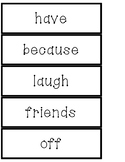 Phonics Month-by-Month Word Wall Words