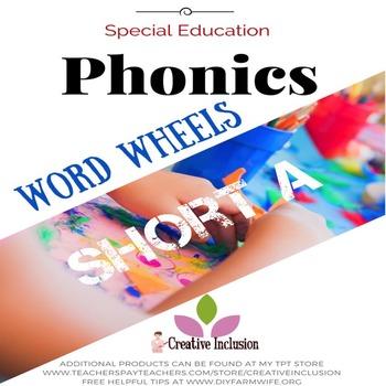 Phonics Multi-sensory Activities, Word Wheels, Short A