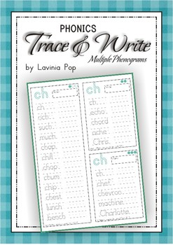 Phonics - Multiple Phonograms Trace and Write