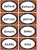 Phonics Multisyllabic Word Cards