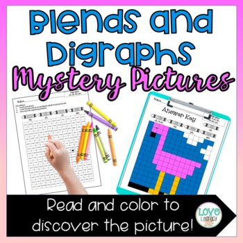 Phonics Mystery Pictures: Blends and Digraphs