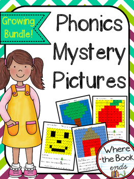 Phonics Mystery Pictures - Growing Bundle!
