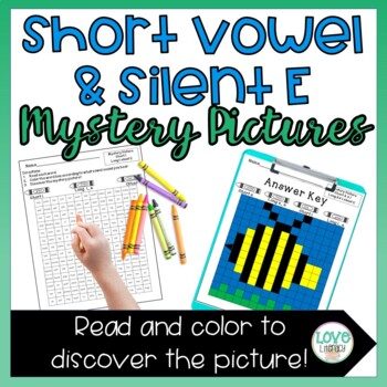 Phonics Mystery Pictures- Short Vowels & Silent E Words