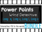 Phonics Mystery Word, Word Detective Interactive Power Point BUNDLE Long Vowels