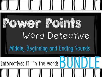 Phonics Mystery Word, Word Detective Interactive Power Point BUNDLE Sounds
