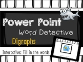 Phonics Mystery Word, Word Detective Interactive Power Point:  Digraphs