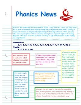 Phonics Newsletter